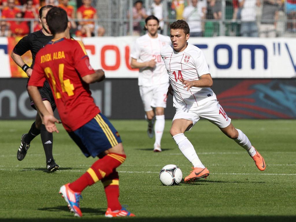 Adem Ljajic in action against Spain
