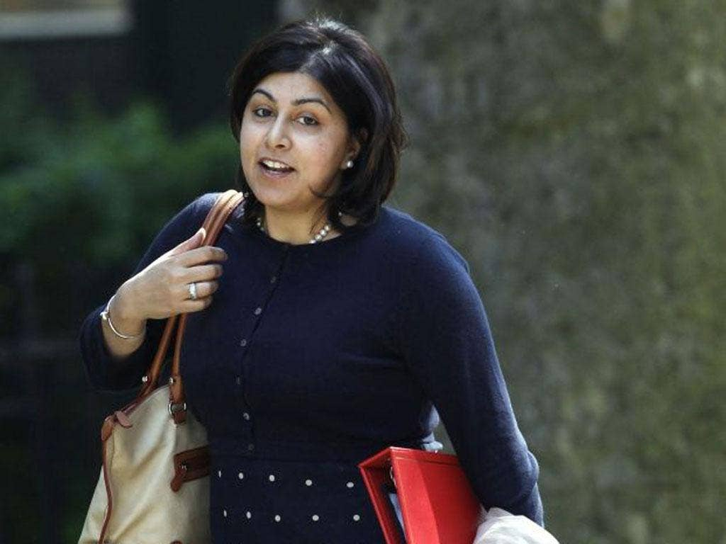 Baroness Warsi insists she acted within the rules