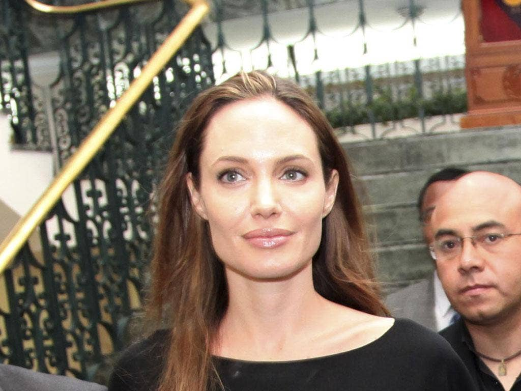 Actress Angelina Jolie the director of In the Land of Blood and Honey