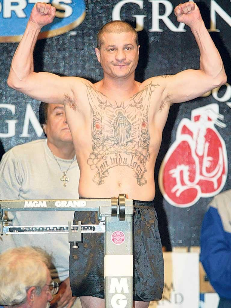 'My crazy life': Tapia at a weigh-in in 2002