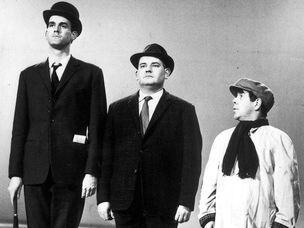 John Cleese, Ronnie Barker and Ronnie Corbett performing their famous sketch about the class system