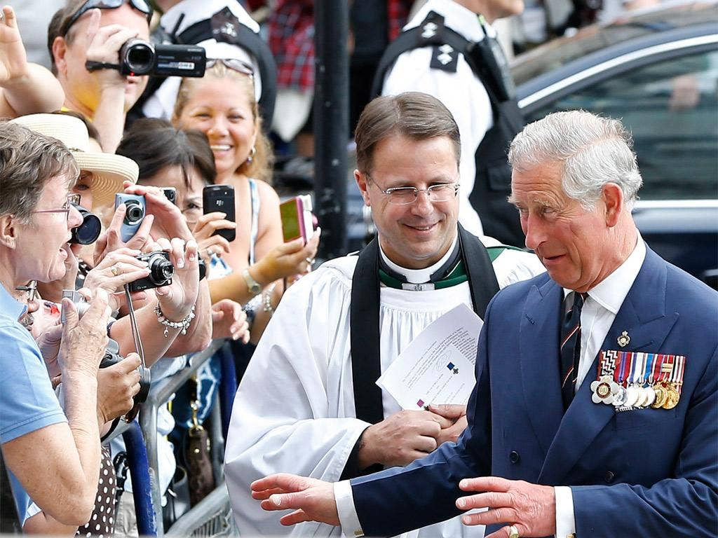 Prince Charles, in London yesterday, will be meeting Sri Lanka's leader for the Jubilee celebrations