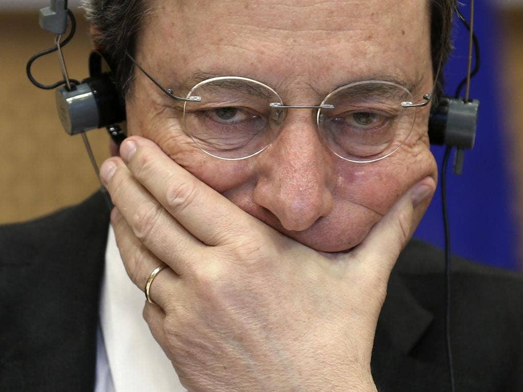 ECB President Mario Draghi hit out at the Spanish government
