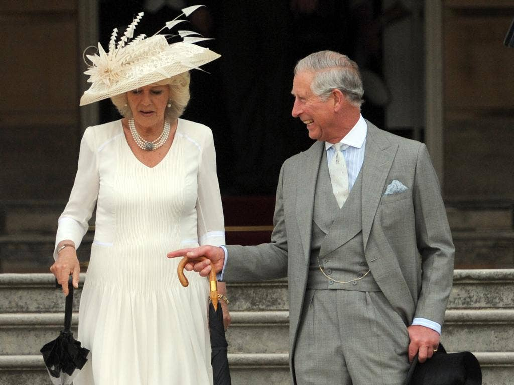 The Prince of Wales with the Duchess of Cornwall at Buckingham Palace this week