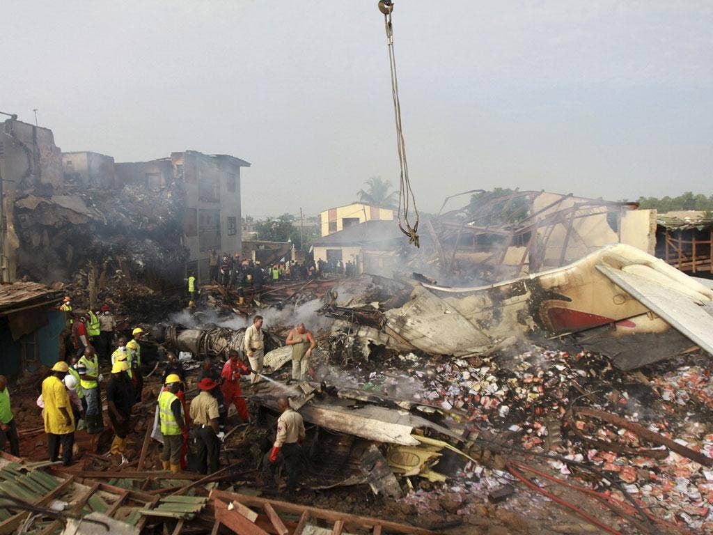 The plane was heading to Lagos from Abuja, the capital, when it went down