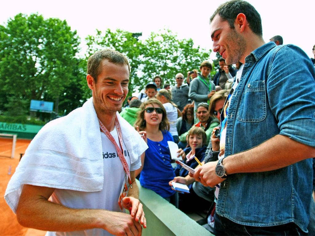 Andy Murray in relaxed mood ahead of his clash with David Ferrer