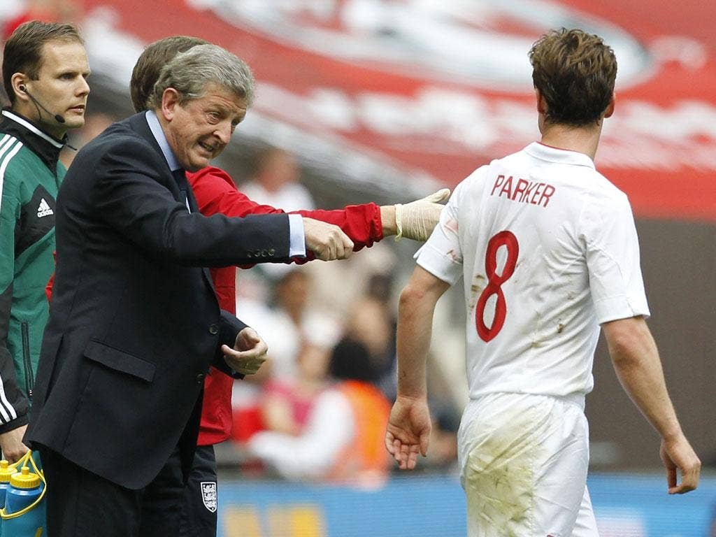 Roy Hodgson offers Parker some direction
