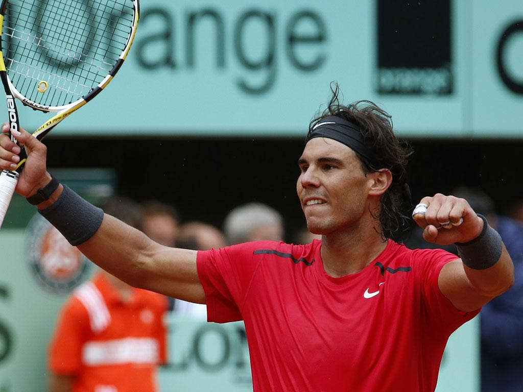 Nadal is bidding for a seventh French Open title
