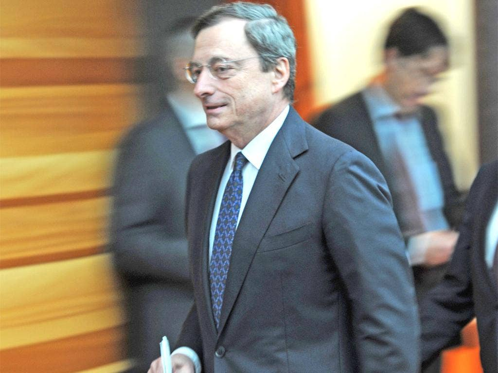 Mario Draghi, head of the ECB, said the bank should not be making up for politicians' shortcomings