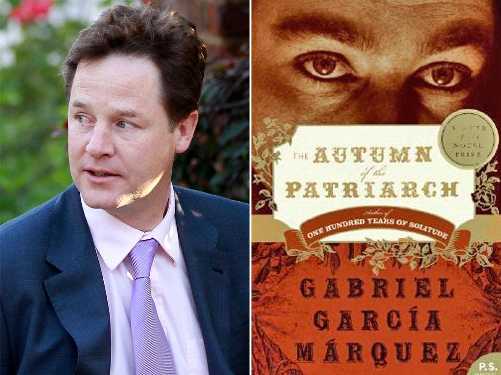 Nick Clegg cites 'Autumn of the Patriarch' among his favourite books
