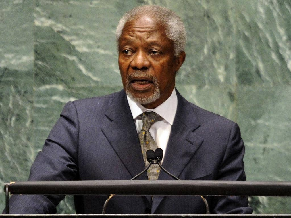 'The longer we wait, the more radicalised and polarised the situation will become' Kofi Annan, envoy for the UN and Arab League