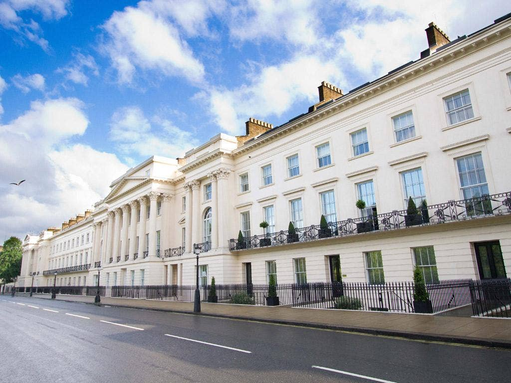 Cornwall Terrace, in London, where every home sold has reportedly gone to an offshore company, reducing the tax burden for buyers