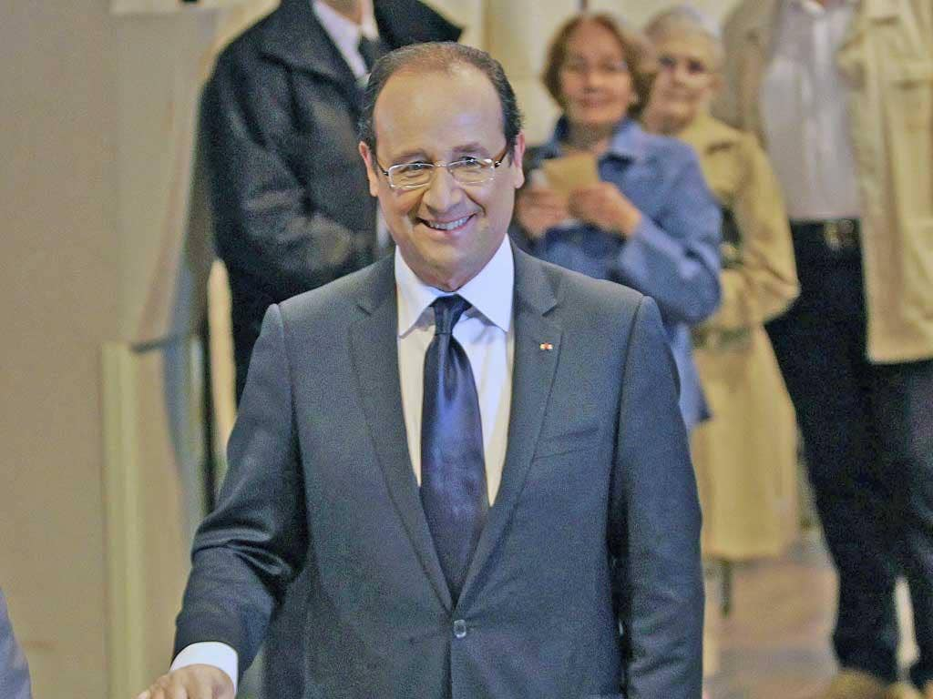 President Hollande votes in the parliamentary elections in Tulle