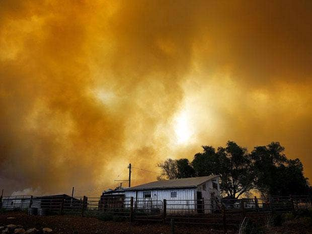 The Colorado fire grew to 22-square miles within about a day of being reported