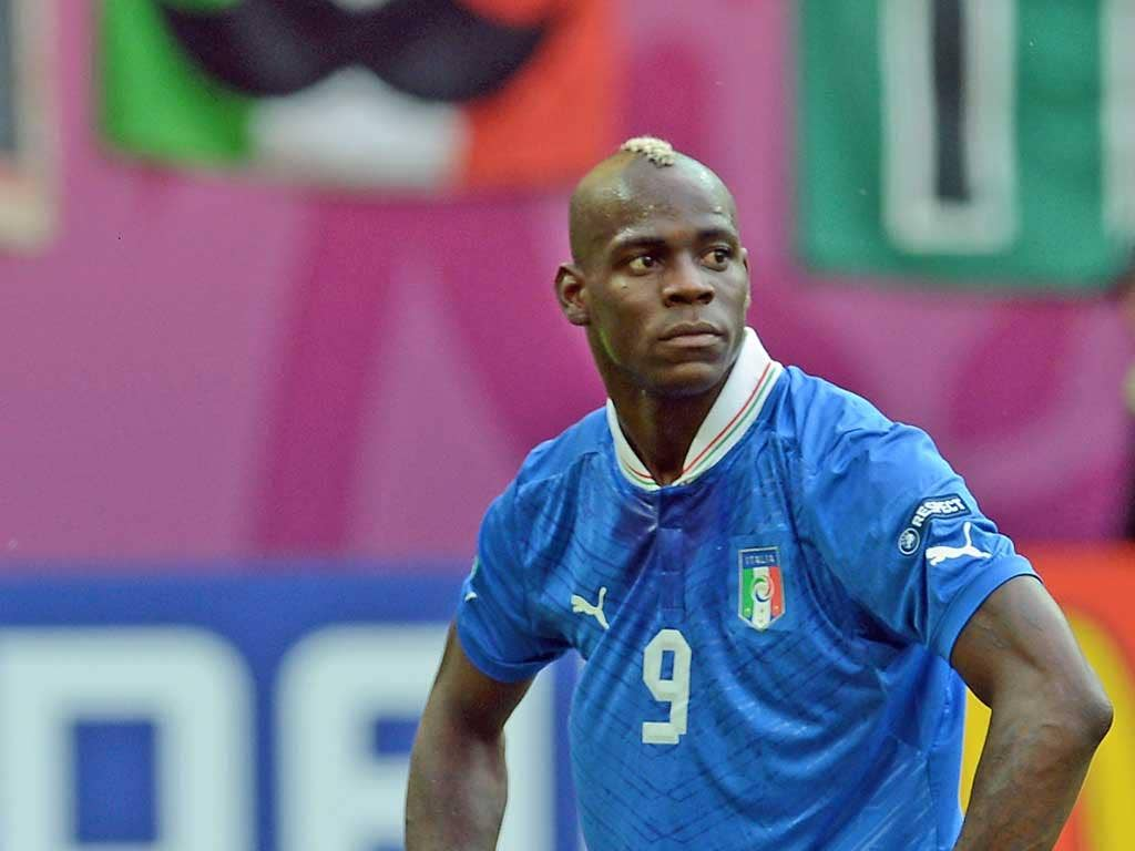 MARIO BALOTELLI: The Italy striker threatened to walk off the pitch if subjected to racist abuse during games