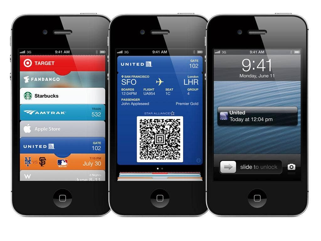 Passbook is a simple way to put tickets, boarding passes and shop payments into one place
