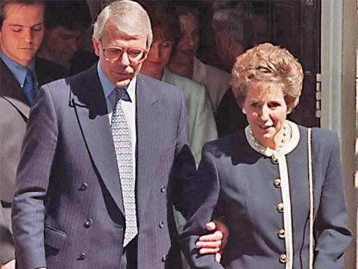 John Major and his wife Norma leave Downing Street in May 1997 after losing a general election in which The Sun had switched its allegiance from the Tories to Labour
