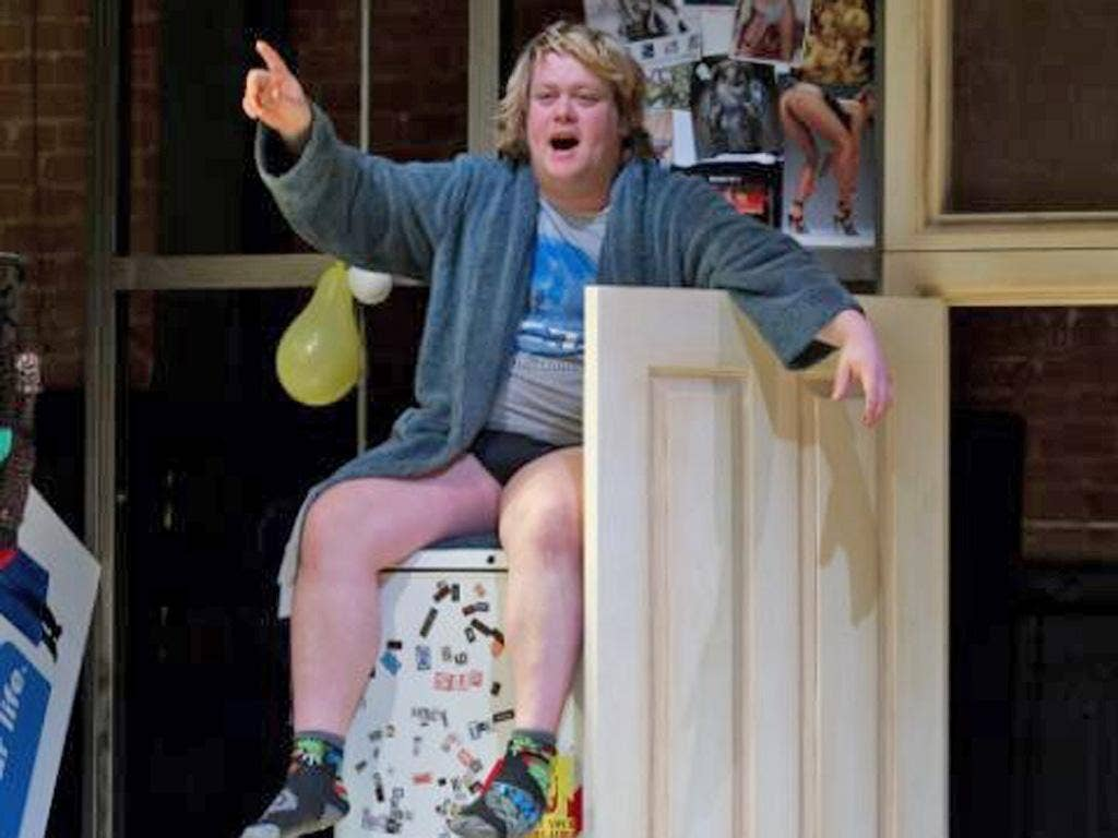 Rant and rave: Danny Kirrane in Boys at the Soho Theatre in London