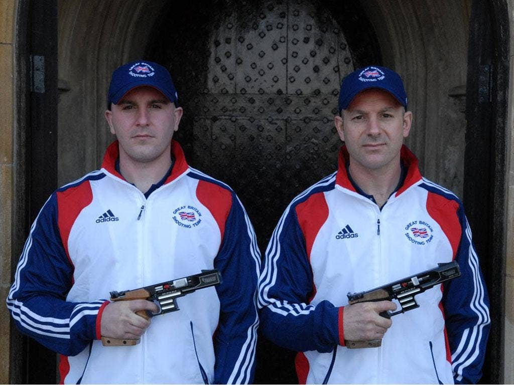Ian Jack, left, won a Berlin tournament; Morgan Cook is the forces' shooting champion