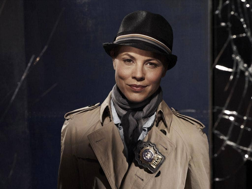 Not the whole sleuth: Maria Bello's talent is wastedin playing Detective Jane Timoney in the US remake of 'Prime Suspect'