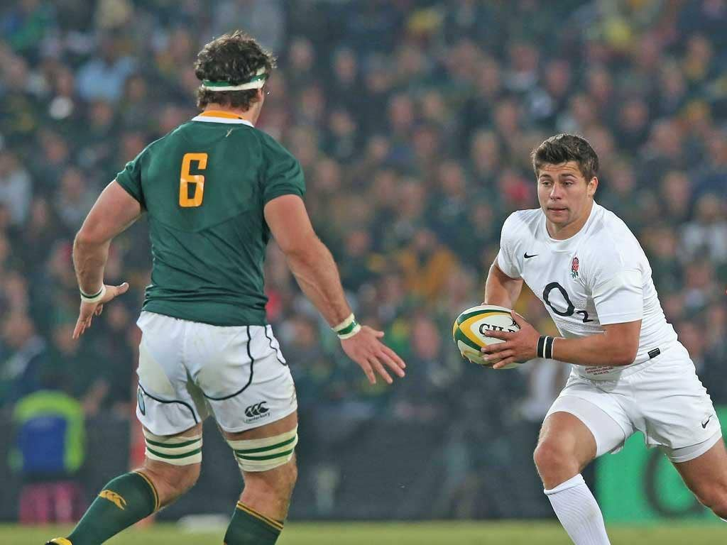 Ben Youngs fashions a break at Ellis Park on Saturday