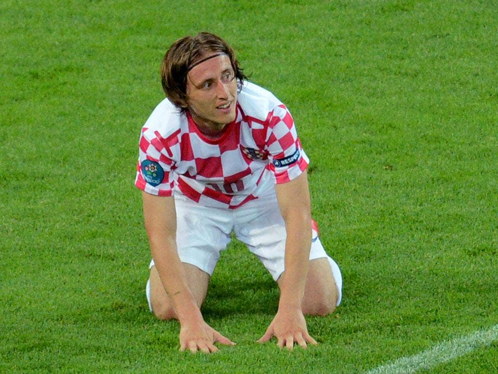 <b> Luka Modric: </b> The diminutive midfielder once again showed what a fantastic player he is, exhibiting his full range of passing with unnerving accuracy. Created Croatia's best chance of the game with sublime ball from the outside of his right foot.