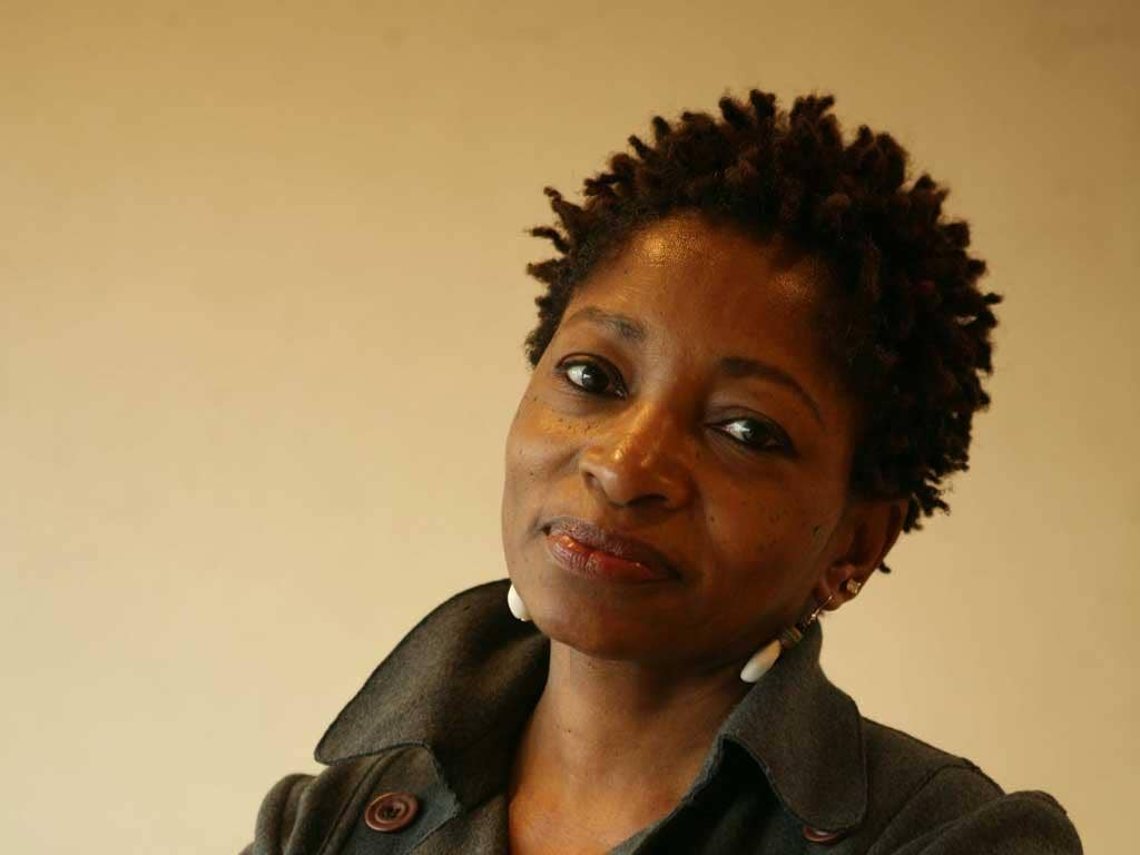 On the button: Bonnie Greer