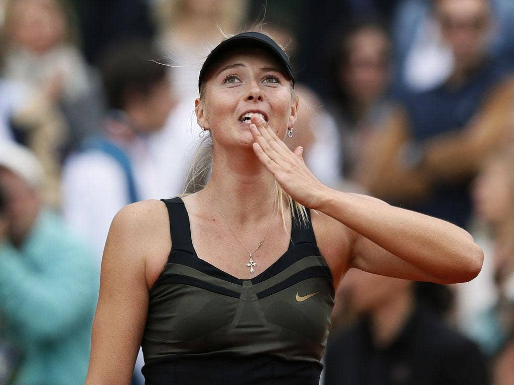 Maria Sharapova is the top seeded woman
