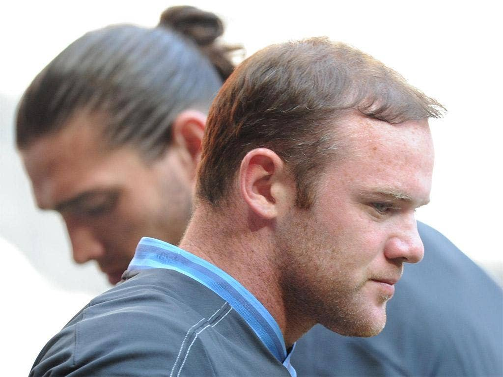 Gelling well: England strikers Wayne Rooney and Andy Carroll