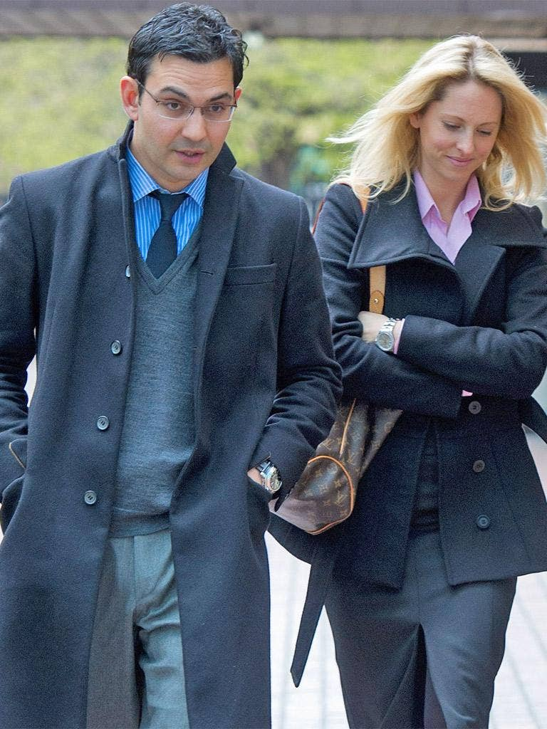 James Sanders pictured at court with his wife