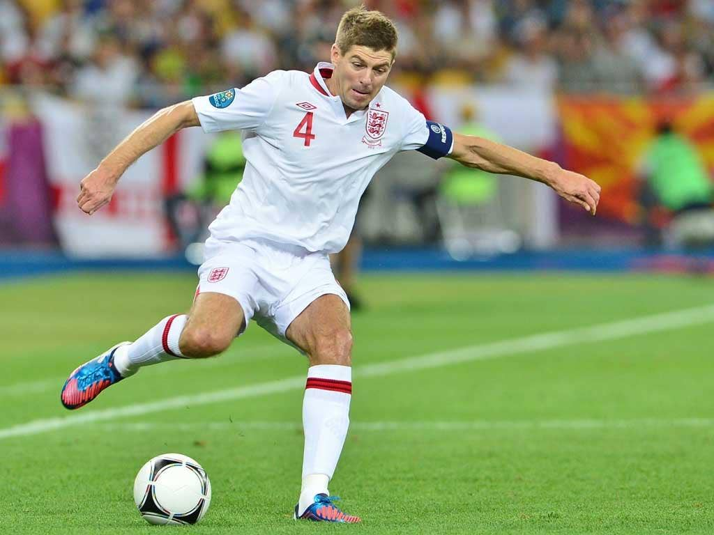 Steven Gerrard was dejected after last night's defeat to Italy