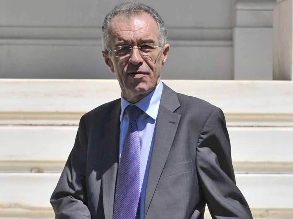 Vasilios Rapanos, the former head of the Bank of Greece, quits to the new Prime Minister following a serious stomach illness
