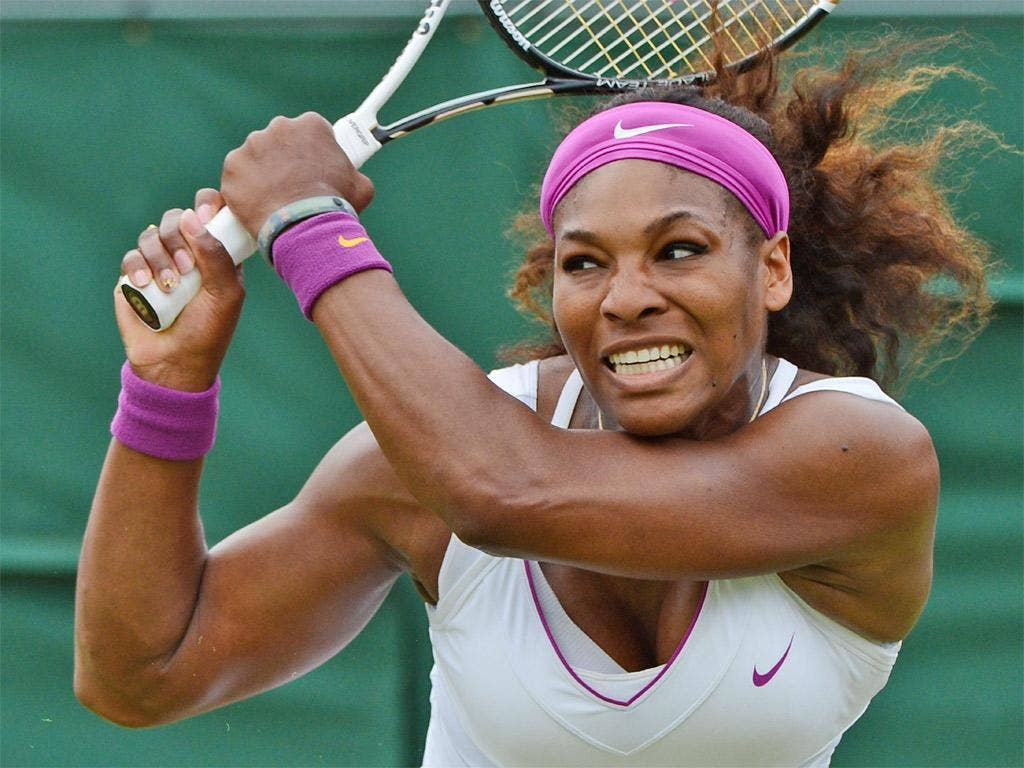 Serena Williams never looked like suffering the fate of her big sister