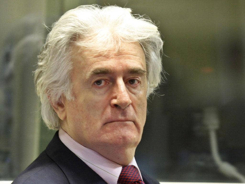 Bosnian Serb leader Radovan Karadzic was acquitted of one charge of genocide but ten other war crimes counts related to atrocities in Bosnia's bloody war were upheld
