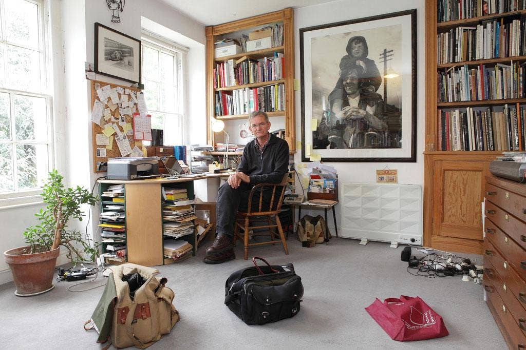 Photographer Martin Parr at his home in Bristol