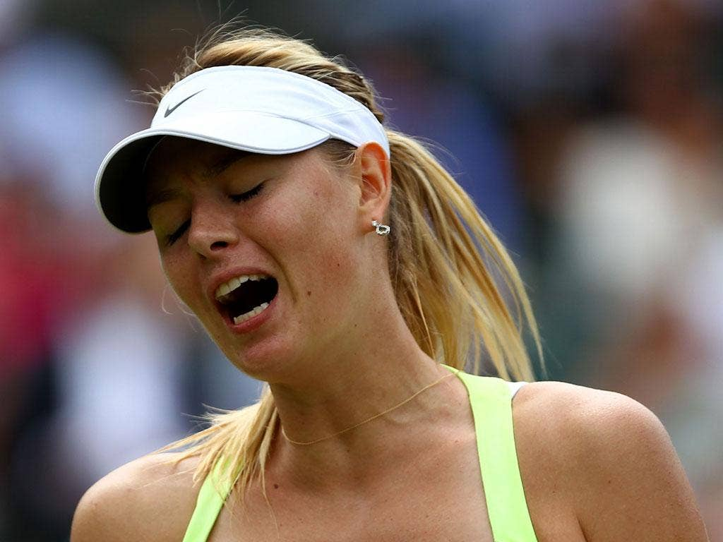 Maria Sharapova: The world No 1's serve fell apart in the second-set tie-break against Pironkova