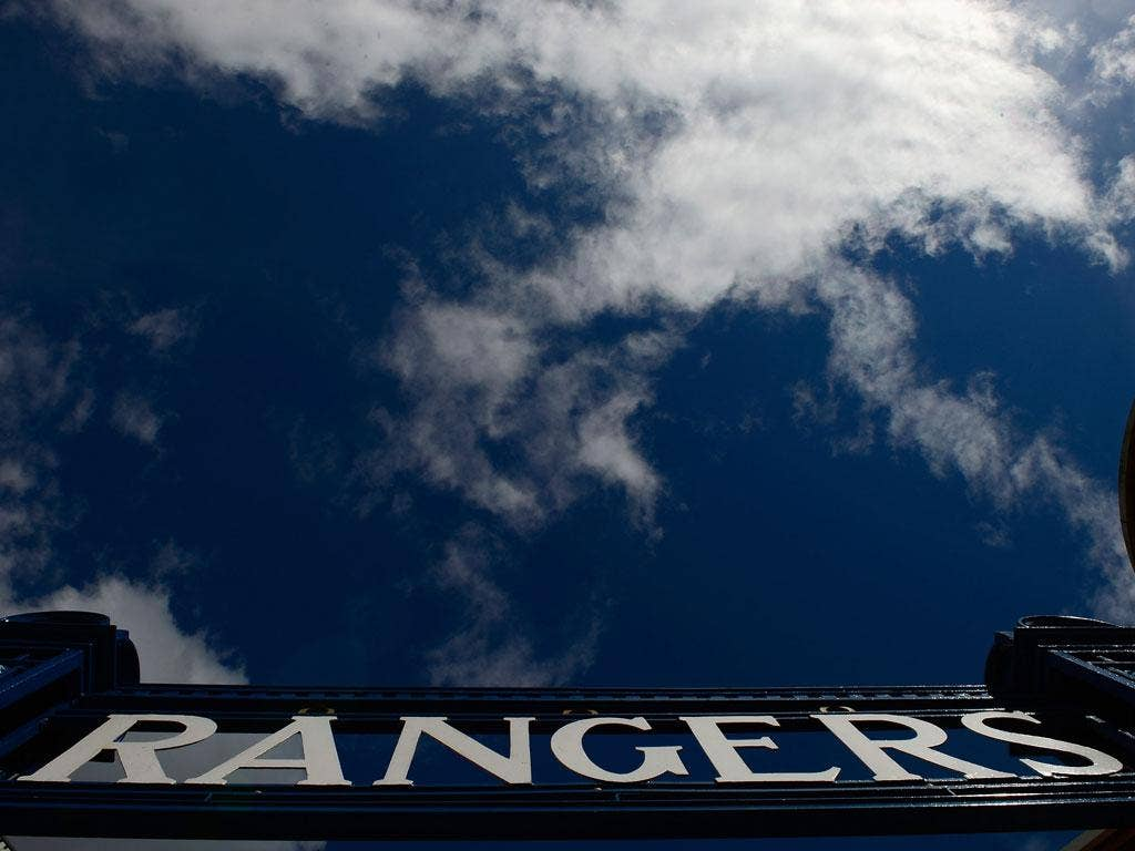 A view from outside Rangers' stadium, Ibrox