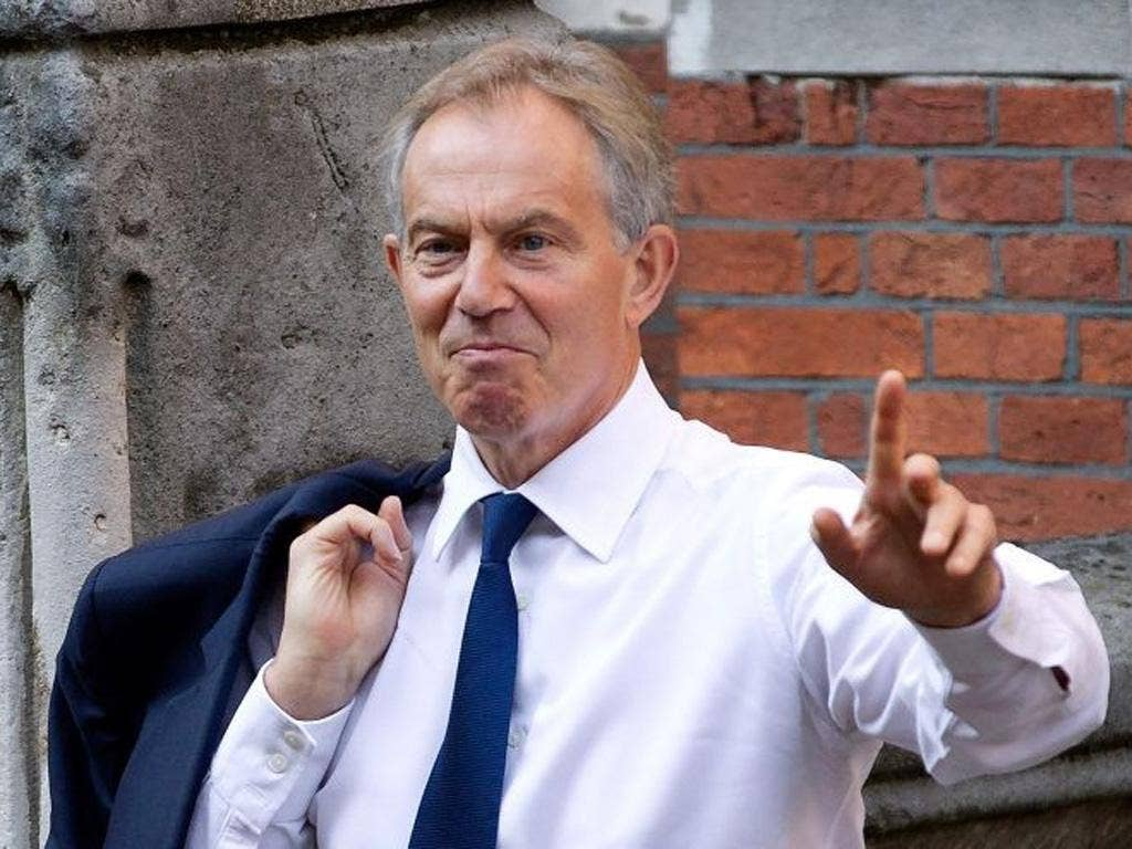 Former Prime Minister Tony Blair has said he would like to return to No. 10