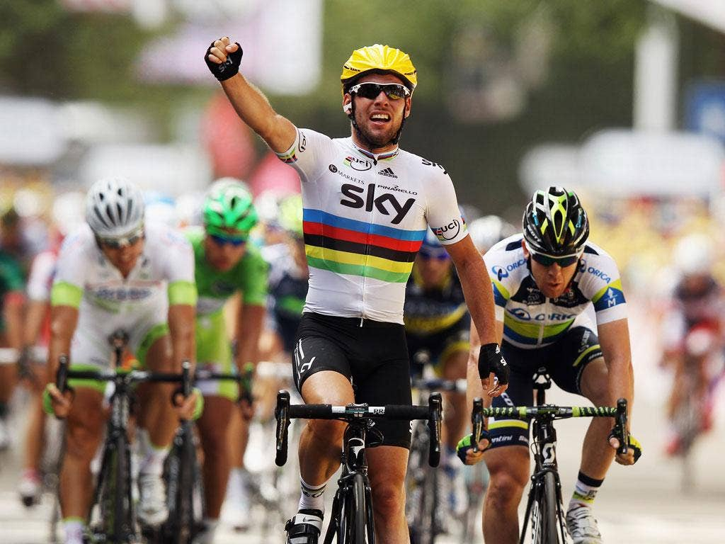 Mark Cavendish wins the latest stage of the Tour