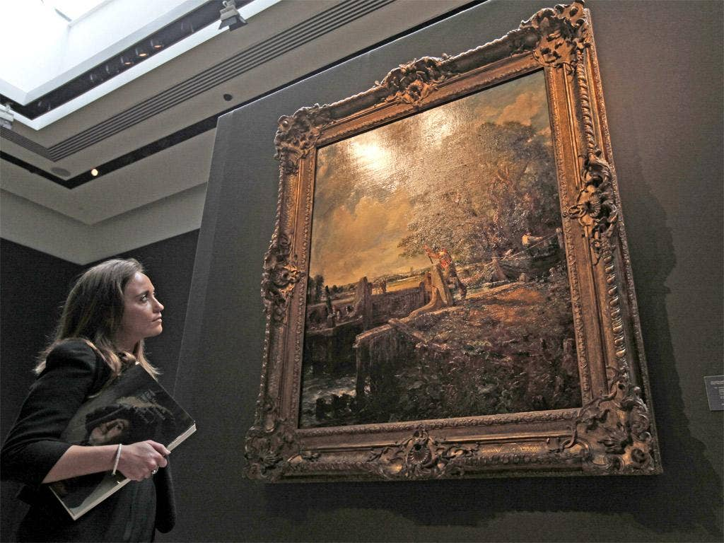 John Constable's The Lock was sent for auction by Baroness Carmen Thyssen-Bornemisza