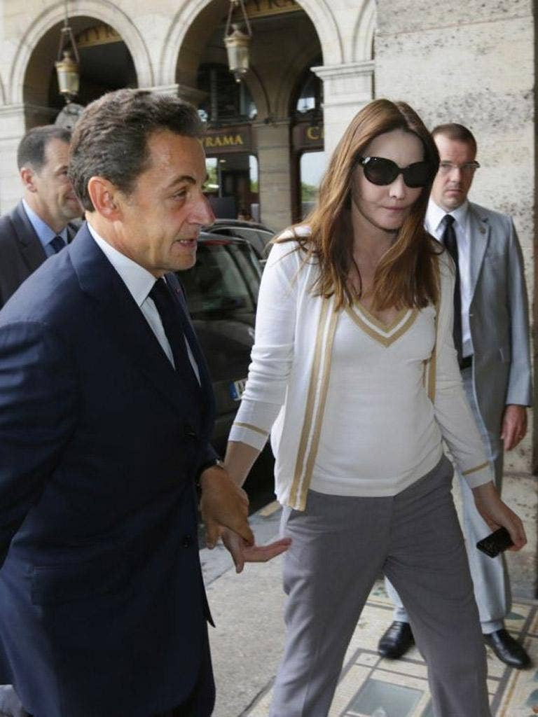 The former French president and his wife Carla Bruni-Sarkozy were not at the mansion as it was raided