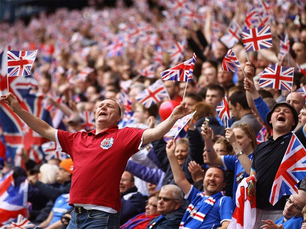 75 per cent of Rangers' season-ticket holders in a recent poll said that they wanted to play in the Third Division