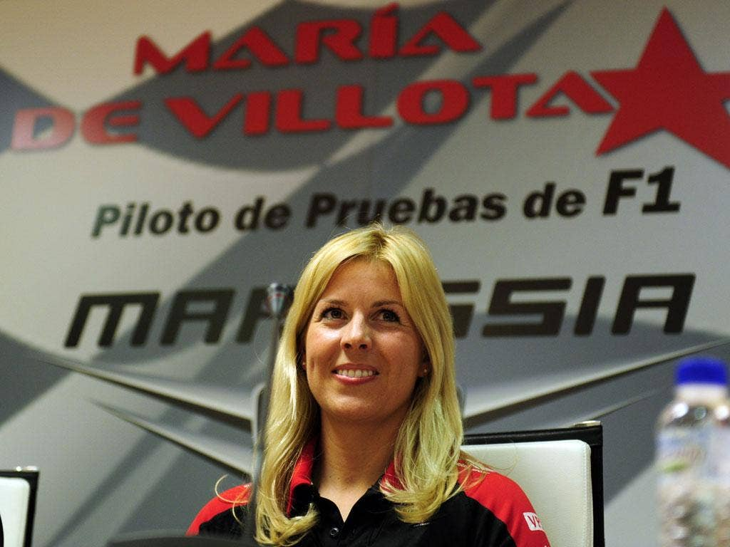 Maria De Villota pictured earlier this year
