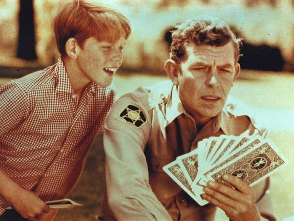 Griffith with the young Ron Howard in an episode of 'The Andy Griffith Show'