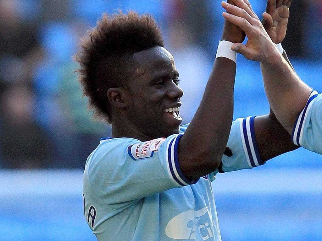 Coventry midfielder Bigirimana