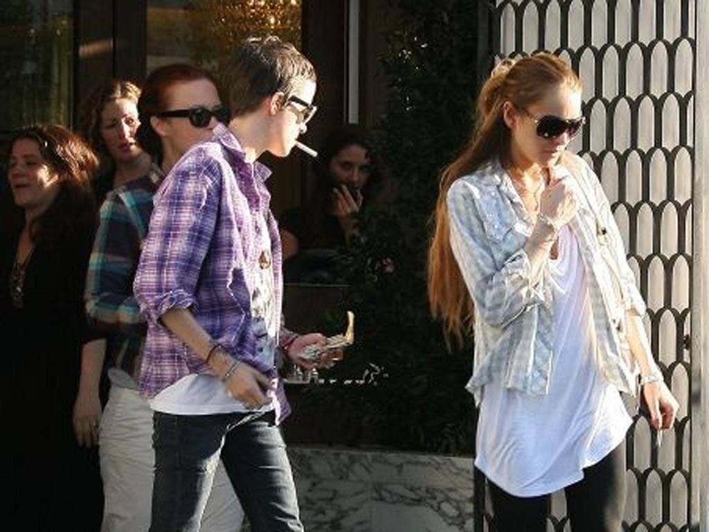 Celebrity couple: Samantha Ronson, left, and Lindsay Lohan in 2009