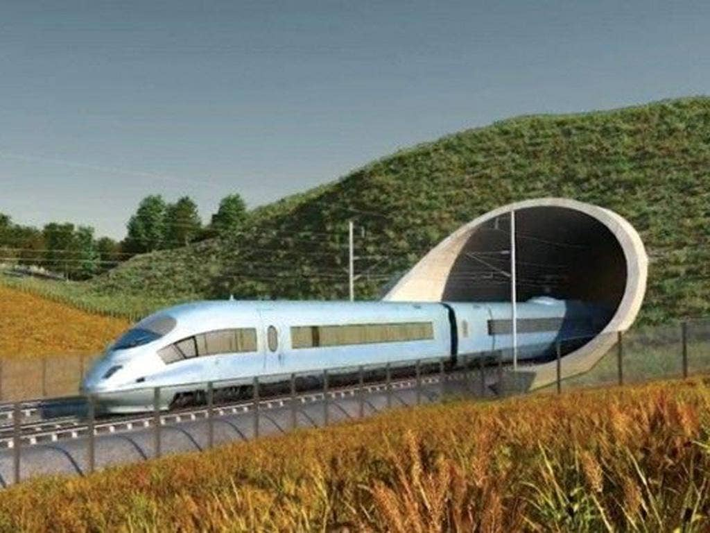 An illustration of HS2