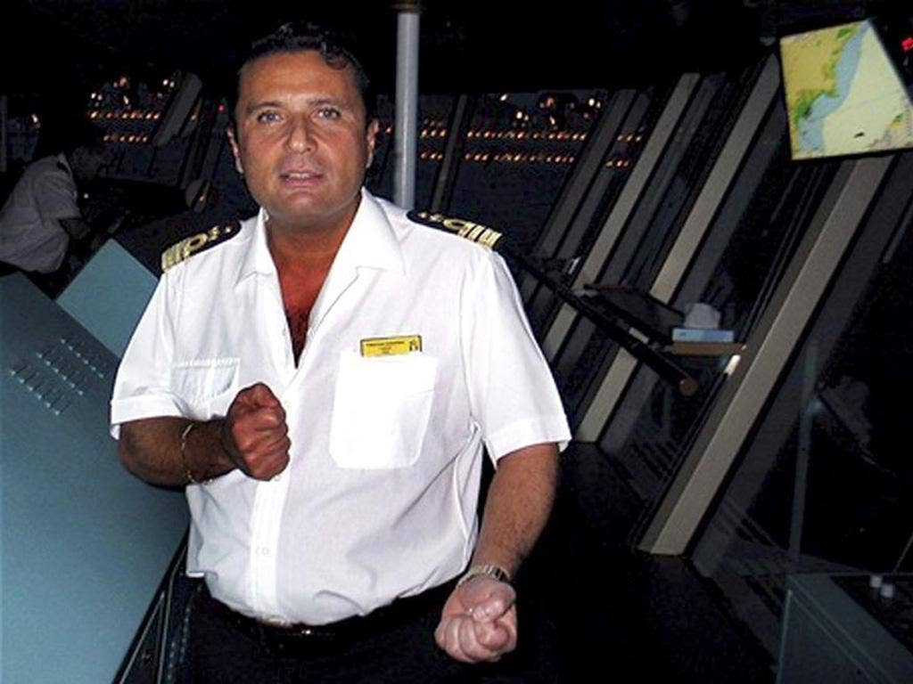 Captain Schettino of the Costa Concordia says divine intervention caused him to change course at the last minute and prevent a worse disaster
