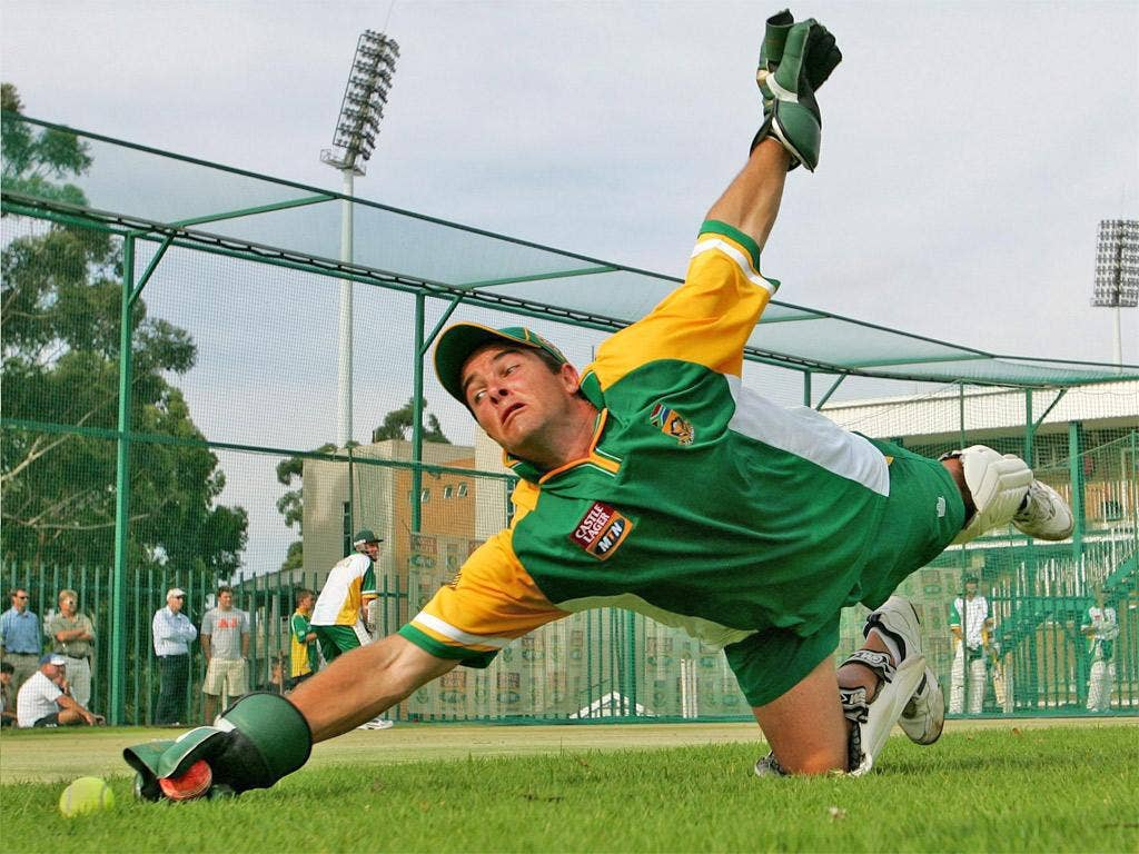 Mark Boucher was forced to retire after being hit by a flying bail