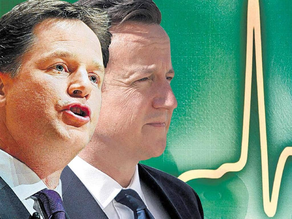 Without the Liberal Democrats a Conservative minority government could not have got the NHS bill through